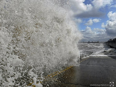 In with it (alundisleyimages@gmail.com) Tags: fujifilmxp130 newbrighton storm waves water promenade fortperchrock sky clouds weather ports harbours slipway merseyside liverpool northwestengland action wet droplets