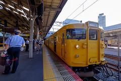 Okayama-Sta. JR-WEST. (takafumistyle) Tags: fujifilm xt1 fujinon xf1024mmf4 jrwest okayama train 115series 115系 jr西日本 岡山駅 japan 赤穂線 山陽本線