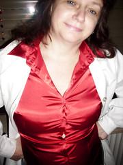 Blouse (Ten Million Smurfs) Tags: blousefetish blouse sexy shirt satin