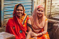 Smiling Women in Saris, Vrindavan India (AdamCohn) Tags: adamcohn hindu india vrindavan holi pilgrim pilgrimage होली