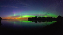 Taikamaa Lights (M.T.L Photography) Tags: auroraborealis northernlights nightscape panoramicphotography mikkoleinonencom mtlphotography stars sky trees water night dark nikond810 auroraphotography landscape