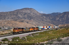Elephants march... (Marco Stellini) Tags: bnsf railroad cajon pass california intermodal long beach port container double stack usa train