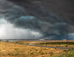 Escape from the storm (Matteo Tidili Meteorologist) Tags: storm stormchasing stormchaser temporale tempesta shelf cloud landscape paesaggio sardegna sardinia cagliari italia italy sunset sea seascape sealife