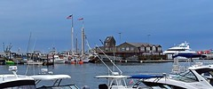 MacMillan Wharf from the Provincetown Marina (AntyDiluvian) Tags: massachusetts provincetown ptown capecod marina provincetownmarina pier wharf macmillanwharf macmillanpier