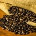 Sack Spilling Coffee Grains