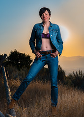 Take Me To The Mountain (Daniel Medley) Tags: portrait beautiful woman sunset golden hour godox flashpoint ad600pro off camera flash nikon d750 85mm18g