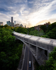 Rosedale Revisited (Brady Baker) Tags: toronto canada ontario rosedale bloor ttc subway bridge covered street car transportation transit infrastructure sunset clouds trees urban nature skyscraper valley green outdoor