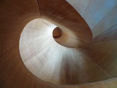 Circular Staircase, Art Gallery of Ontario, Toronto (duaneschermerhorn) Tags: toronto ontario canada city urban downtown stairs stairway steps railing circular spiral spiralstaircase spiralstairway circularstaircase circularstairway art artgalery museum gallery exhibition installation painting london england modernart contemporaryart colourful colorful