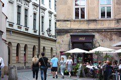 Cafe Camelot, Kraków (Gondolin Girl) Tags: krakow poland europe travel city holiday holidays break citybreak architecture church street streets cafecamelot