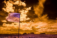 Indian Country (robpolder) Tags: 2018 fullspectrum infrared usa monumentvalley indiancountry arizona utah clouds landscape desert indian
