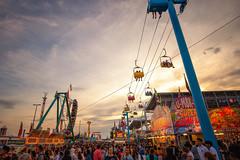 CNE 2018 VII (Jack Landau) Tags: canadian national exhibition toronto fair carnival rides midway cne ex ontario canada city urban skyline sunset pink sky jack landau canon 5d people sign