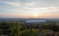 View over Neumarkt in der Oberpfalz during sunset