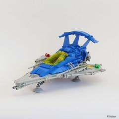 Benny Spaceship - V2 (Kloou.) Tags: lego kloou benny spaceship space vaisseau spatial neo classic legospace neoclassic