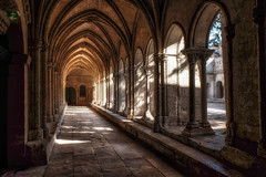 Cloister in the morning (le cabri) Tags: arles fantasy monastery wall abbey church cloister medieval oldruin sttrophine trophine arch architecture architecturalcolumn morning light france stonematerial ancient antique arcade cathedral colonnade europe history outdoors pedestrianwalkway religion window