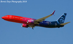 Boise-July (Bernie Deyo Photography) Tags: alaskaairlines virgin america more love speciallivery livery unique color 737800 boeing n493as