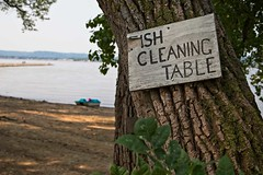 Fish Cleaning Table (TwinCitiesSeen) Tags: stockholm wisconsin lakepepin canon6d tamron2875mm twincitiesseen