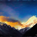 Digital Pastel Drawing of Aoraki/Mount Cook by Charles W. Bailey, Jr.