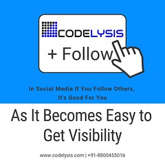 Get Visibility Easily Online By Following Others (CodelysisOfficial) Tags: digitalmarketingagency digitalmarketingcompany seoagency seocompany smocompany smoagency smmcompany smmagency softwaredevelopmentagency softwaredevelopmentcompany webdevelopmentcompany websitedesigningagency websitedesigningcompany websitedevelopmentagency adwordscompany adwordsagency topsoftwaredevelopmentcompanyinindia bestsoftwaredevelopmentcompany bestsoftwaredevelopmentcompanyinindia socialmediamarketing searchengineoptimization socialmediaoptimization bestdigitalmarketingagency bestdigitalmarketingcompany bestonlinepromotionagency brandingcompany brandingagency