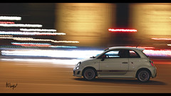 Abarth  500 (at1503) Tags: france paris speed motion blur abarth 500 abarth500 fiat500 smallcar hothatch lights streaksoflight cooltones night colours wheels reflections white red italiancar gtsport granturismo granturismosport motorsport racing game gaming ps4 urban