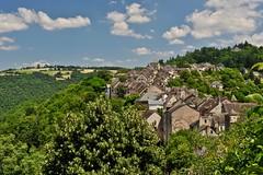 vue depuis le château (jean-marc losey) Tags: france occitanie aveyron najac village randonnée d700