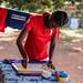 Livelihood skills through screen printing
