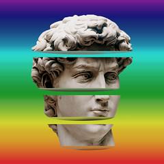 Statue = serious culture (https://tinyurl.com/jsebouvi) Tags: culture statue art top color cutout slice photo museum head portrait artist new photomontage jsebouvi objects decoration