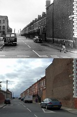 Corn Street, Toxteth, 1968 and 2018 (Keithjones84) Tags: liverpool oldliverpool thenandnow rephotography
