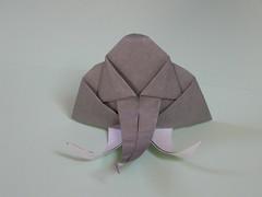 Elephant head N°2 (Mélisande*) Tags: mélisande origami elephant
