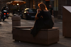 She was alone with herself_2 (ghismou1981bo) Tags: street streetphoto people life sunset 50mm