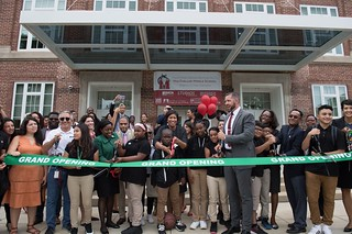 August 20, 2018 MMB Awards Grants for Afterschool Programming at Ribbon Cutting on MacFarland Middle School