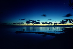 South Pacific (Harald Philipp) Tags: outdoors rural seascape isolated beach natural scenic ocean sea estuary bay lagoon water waterfront shore sunset clouds reflection holiday vacation tourism luxury tourist exotic destination travel adventure wanderlust island beautiful calm peaceful placid fuji velvia film grain analog filmphotography mediumformat 120 pentax645n pentax 645 sky southpacific pacificocean borabora twilight night romantic tripod longexposure