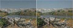 Un named lakes (turbguy - pro) Tags: 3d crosseye stereo medicinebownationalforest