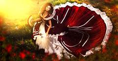 In royal yard (meriluu17) Tags: thefantasygachacarnival baroque moonamore princess yard garden flower butterfly fantasy baby sweet dress gown glamaffair people