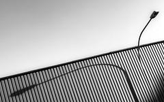 streetlight@daylight (Blende1.8) Tags: laterne strasenleuchte streetlight daylight shadow shadows schatten licht strasenlaterne fassade line lines linien diagonal diagonale iphone 8plus urban outdoor crange city stadtmöbel monochrome mono monochrom schwarzweis sw bw