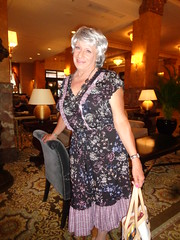 How To Be A Woman, In 30 Not-So-Easy Years (Laurette Victoria) Tags: hotel lobby milwaukee pfisterhotel dress silver woman laurette
