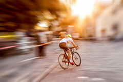 race in sunset (AESTRACT) Tags: bike bicycle race sun sunset blur motionblur movement wolframgrandprix