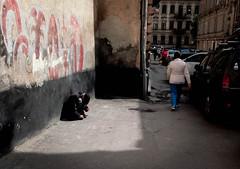 Bad eavning (kitowras) Tags: ukraine lviv street people colour fujifilm