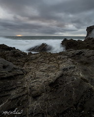 Leo Carrillo_MG_0800 (Alfred J. Lockwood Photography) Tags: alfredjlockwood nature seascape leocarrillostatepark pacificocean pacificcoast rocks waves clouds southerncalifornia winter morning