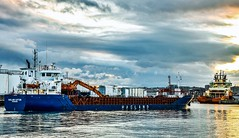 Hagland Captain - Aberdeen Harbour Scotland - 2/9/18 (DanoAberdeen) Tags: haglandcaptain danoaberdeen danophotography dock docks amateur autumn aberdeenscotland abdn abz aberdeenharbour aberdeencity aberdeenshire candid clouds cargoships seascape caledonia cityofaberdeen vessels bluesky bonnyscotland boats nikond750 northsea northeast northseasupplyships shipspotting summer scottish seafarers seaport grampian geotagged gb harbour lifeatsea metal merchantnavy maritime merchantships vessel stoczni amazing szkocja footdee fittie granitecity dockwise winter water workboats wasser tug psv uk ship boat 2018 aberdeen sailor