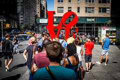 In Line for Love (Phil Roeder) Tags: newyorkcity nyc leica leicax2 manhattan robertindiana sculpture love art