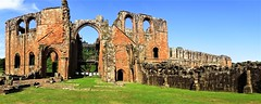 Panoramic the length of the nave (dir. E) (eucharisto deo) Tags: furness abbey lakes lake lakes18 district cumbria lancashire monastery monastic ruins ruin dissolution henry viii cistercian panoramic panorama