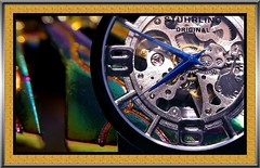 watching art (MoparMadman63) Tags: watch frame art creative abstract collage photoshop fashion colorful contrast analog number numeral text letter round