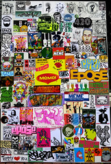 stickercombos (wojofoto) Tags: amsterdam nederland holland netherland streetart stickers sticker stickerart stickercombo combo wojofoto wolfgangjosten wojo blackgold coffeeshop