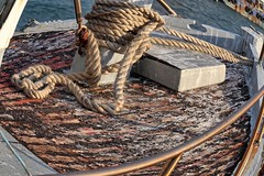 Bow ropes. (Ian Ramsay Photographics) Tags: snugbay portofeden newsouthwales australia bow ropes fishing vessel anchor working living work deck boat