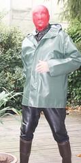 Rubberman (Gummirubber2012) Tags: r rubber hule gummi latex leder rainwear regenkleidung klepper gummicape cape fetish fetisch lack pvc