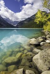 Lake Louise (3dRabbit) Tags: banff national park lake louise color water cloud mountain rock outdoor peace calm sungjinahn nikon 20mm d810