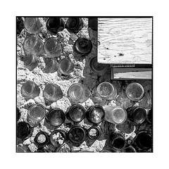 bottle house • goldfield, nv • 2018 (lem's) Tags: bottles bouteilles house maison cabin cabane ghost town ville fantome goldfield nv nevada rolleiflex t