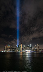 Tribute in Light 2018 (20180911-DSC01344) (Michael.Lee.Pics.NYC) Tags: newyork tributeinlight 2018 lowermanhattan memorial 911 night longexposure brooklynbridgepark wtc worldtradecenter sky architecture cityscape sony a7rm2 voigtlanderheliar15mmf45
