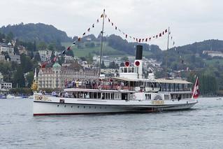 steamboat DS Unterwalden Lake Lucerne Vierwaldstättersee Luzern Switzerland 2018