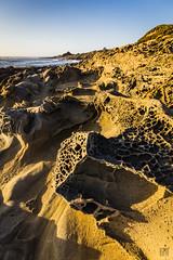 Bean Hollow Rocks 1 (lycheng99) Tags: beanhollow rocks rockswithholes beachhollowstatebeach beach california californiacoast sunset sky horizon ocean pacificcoast pacificocean landscape nature geology northerncalifornia shadows water pool